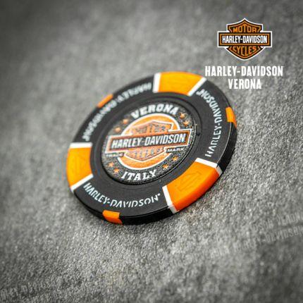 Poker Chip Harley-Davidson® Colore Nero e Arancio