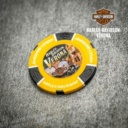 Poker Chip Harley-Davidson® Colore Giallo