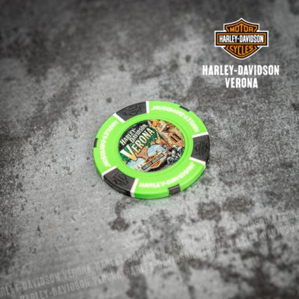 Poker Chip Harley-Davidson® Colore Verde Neon