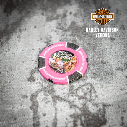 Poker Chip Harley-Davidson® Colore Rosa Neon