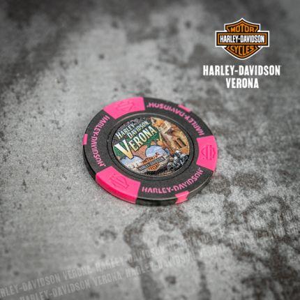Poker Chip Harley-Davidson® Colore Nero Rosa Neon