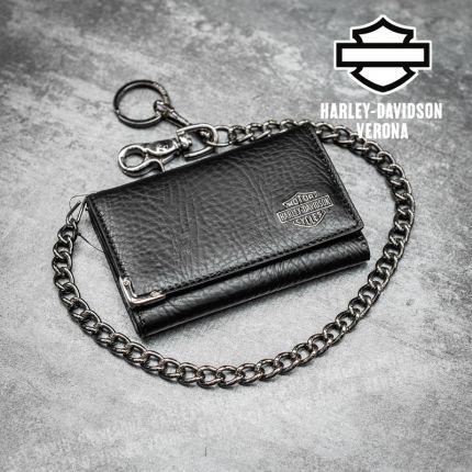 Portafoglio Harley-Davidson® Gun Metal B&S