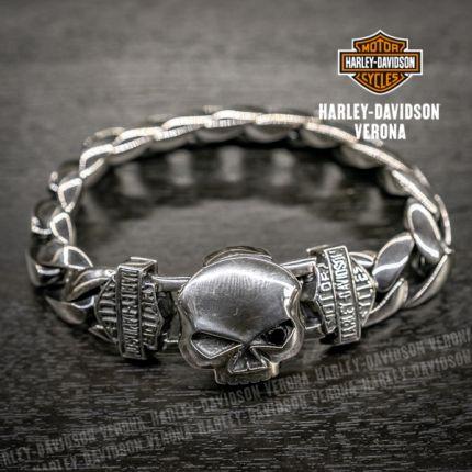 Bracciale in Argento Harley-Davidson®  WILLIE G. SKULL
