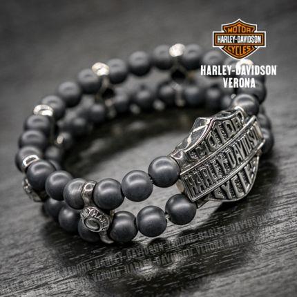 Bracciale Harley-Davidson® e pietre in onice opaca