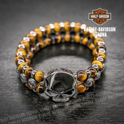 Silver Bracelet with Tiger Eye H-D®