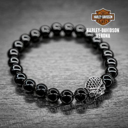 Bracciale Harley-Davidson® Onice, Skull