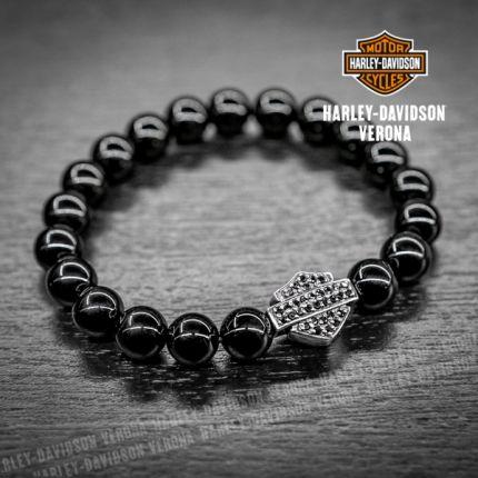 Braccialetto Harley-Davidson® B&S con pietre in Onice
