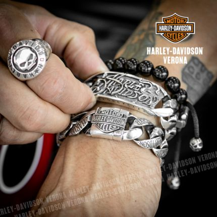 Bracciale Argento Harley-Davidson® Gothic Lettering