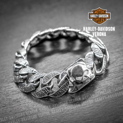 Bracciale Skull Argento Harley-Davidson® by Thierry Martino
