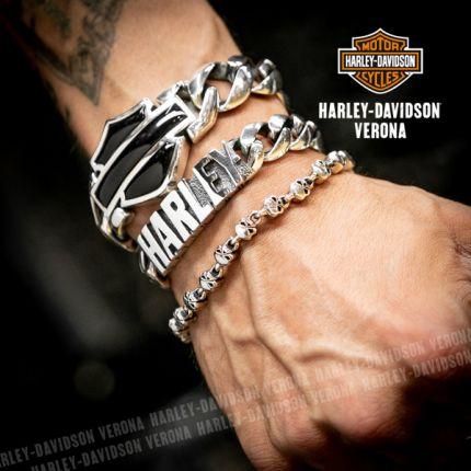 Bracciale con Maglie Skull Harley-Davidson® in Argento