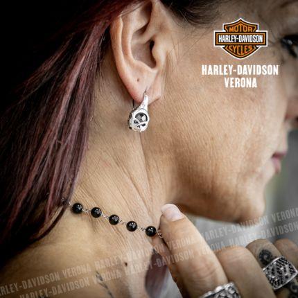 Orecchini Skull e Onice Harley-Davidson® by Thierry Martino