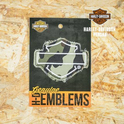 Patch Harley-Davidson® B&S® Militare in Tessuto