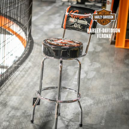 Sgabello Harley-Davidson® ''Genuine Oil Can Bar Stool''