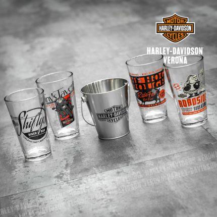 Set Bicchieri e Cestello Snack Harley-Davidson® Pit Stop