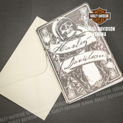 Biglietto di Auguri Harley-Davidson® Skeleton Rider