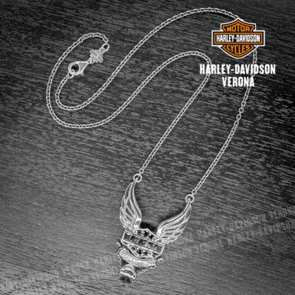 Collana Harley-Davidson® Onice B&S Wings