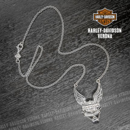 Collana Harley-Davidson® Zirconium B&S Wings