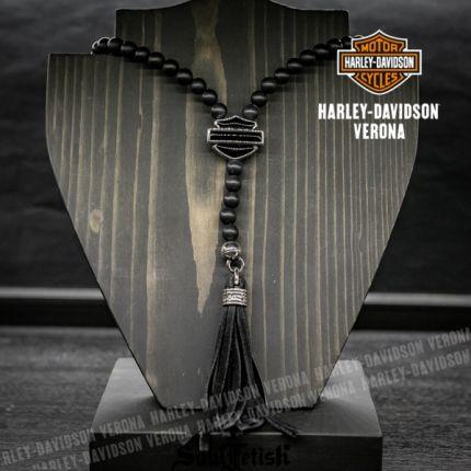 Collana Harley-Davidson® con Pietre opache in Onice