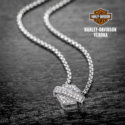 Collana Harley-Davidson® B&S, Zirconi