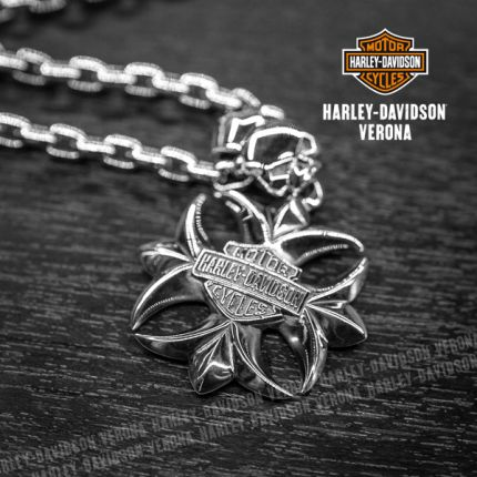 Pendente Harley-Davidson® Sterling Silver H-D Logo by Thierry Martino