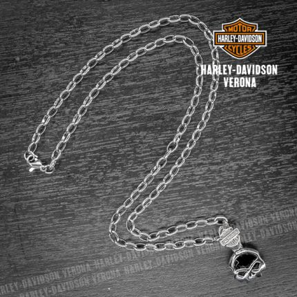 Pendente Skull e Onice Harley-Davidson® by Thierry Martino