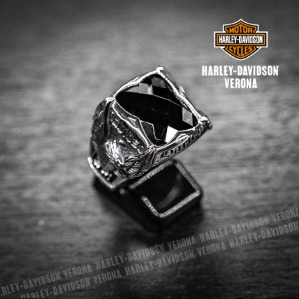 Anello Harley-Davidson® by Thierry Martino argento e onice