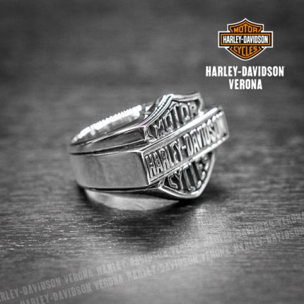 Anello B&S Harley-Davidson® by Thierry Martino in argento