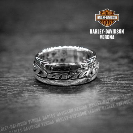 Anello a fascia con scritta Harley-Davidson®
