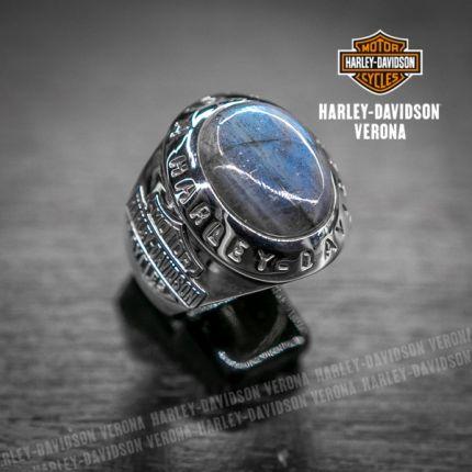 Anello Harley-Davidson® by Thierry Martino, Argento e Labrodorite