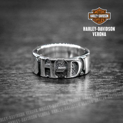 Anello a fascia Harley-Davidson® Silver H-D