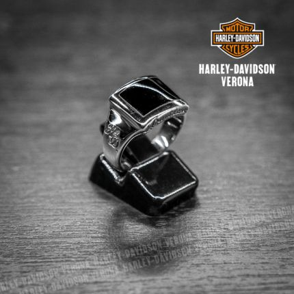 Anello Harley-Davidson® by Thierry Martino H-D Argento e Onice