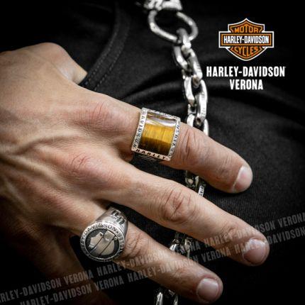 Anello Occhio di Tigre Harley-Davidson® Square