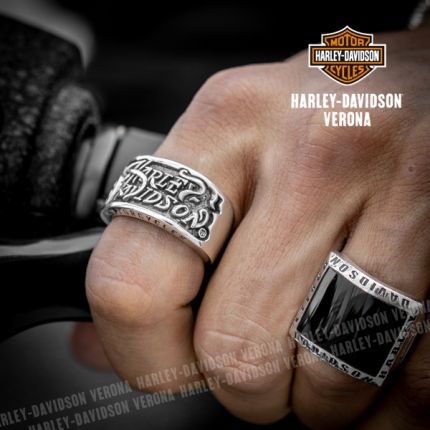 Anello Argento Harley-Davidson® Gothic Lettering