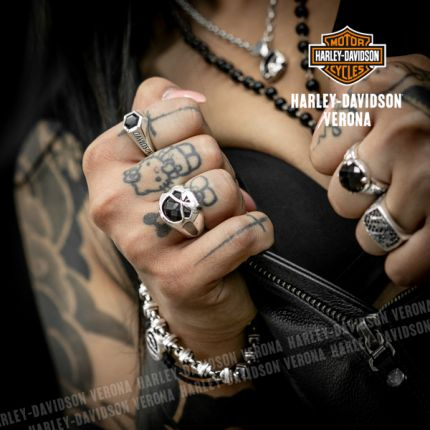 Anello Skull e Onice Harley-Davidson® by Thierry Martino