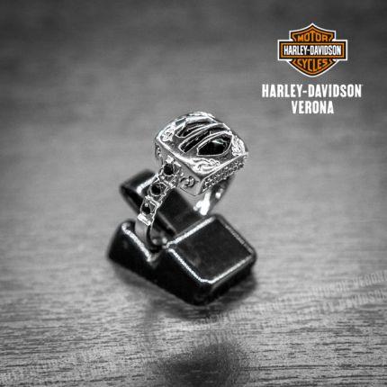 Anello Onice e Argento Harley-Davidson® con Secret B&S