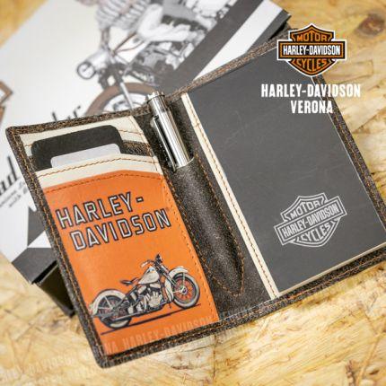 Portafoglio Prendinote Harley-Davidson® Roadwriter Elite Motto in Pelle