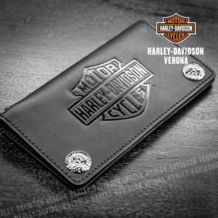 Portafoglio Pelle Harley-Davidson® Con Chiusura in Acciaio
