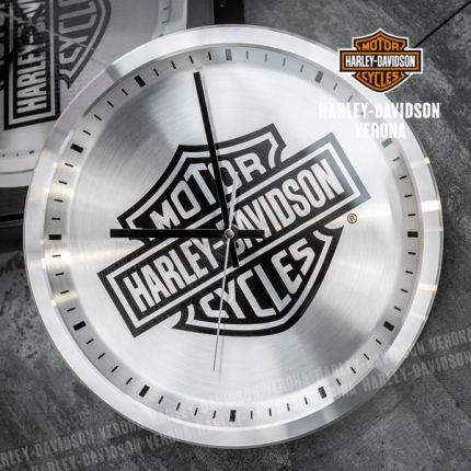 Harley-Davidson® Core Metal Chrome B&S Logo Clock
