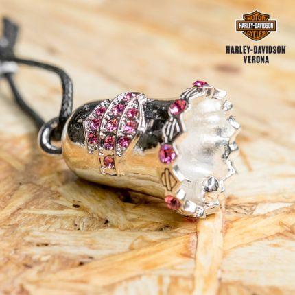 Campanella Harley-Davidson® Pink Crystal Bar & Shield®