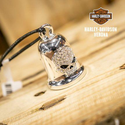 Campanella Harley-Davidson® Skull White Crystal
