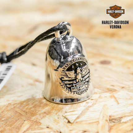 Harley-Davidson® Eagle & Stripes B&S Silver Ride Bell