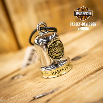 Campanella Harley-Davidson® Sculpted B&S Medallion Ride Bell, Brass & Steel Finish