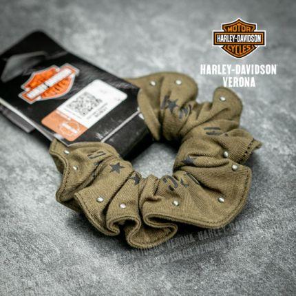 Elastico per Capelli Harley-Davidson® Verde Militare