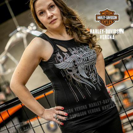 Canotta da donna Harley-Davidson® OUTLANDER, Black