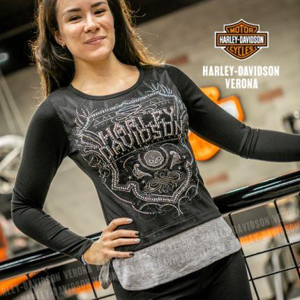 Maglia da donna Harley-Davidson® SOUL SHIELD, Black