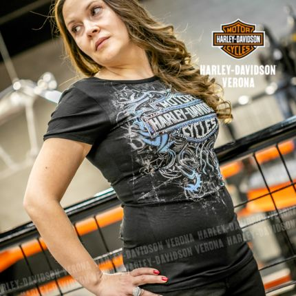 T-Shirt da Donna Harley-Davidson® CASTLE BRAVO, Black