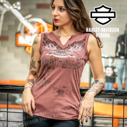 Canotta da Donna Harley-Davidson® STARLIGHT, Marsala