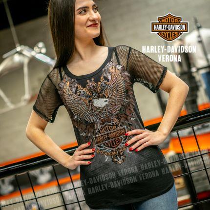 T-Shirt da Donna Harley-Davidson® AMERICAN MUSCLE ART
