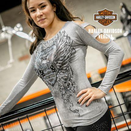 T-SHIRT Harley-Davidson® da donna UNLEASHED POWER, Gry
