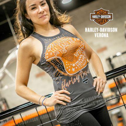Canotta da donna Harley-Davidson® SOARING LIKE EAGLES, Gry